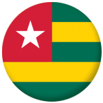 Togo Country Flag 58mm Button Badge